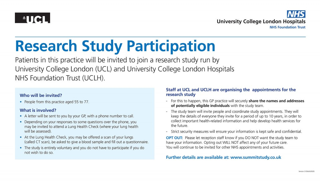 UCLH Research Study 2020